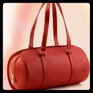 Original Louis Vuitton Epi Papillon Castilian red
